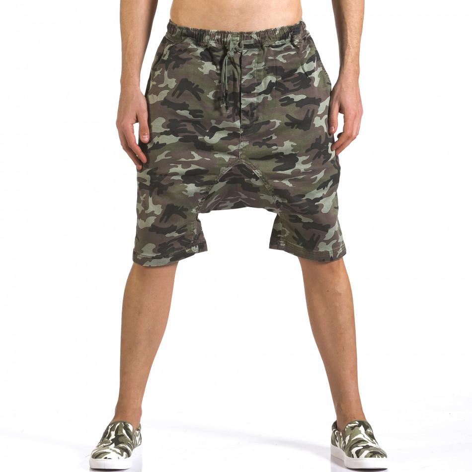 Pantaloni scurți bărbați Iabes Jeans camuflaj it110316-73