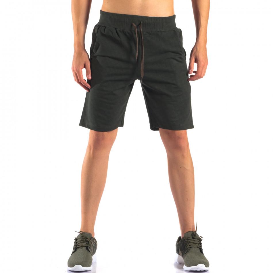 Pantaloni scurți bărbați Social Network verzi it160616-6