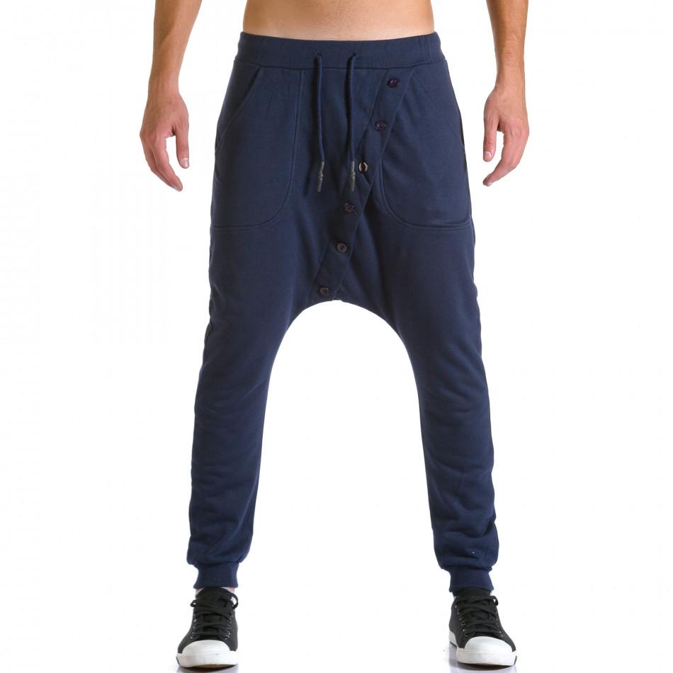 Pantaloni baggy bărbați Devil Slayer albaștri ca260815-24