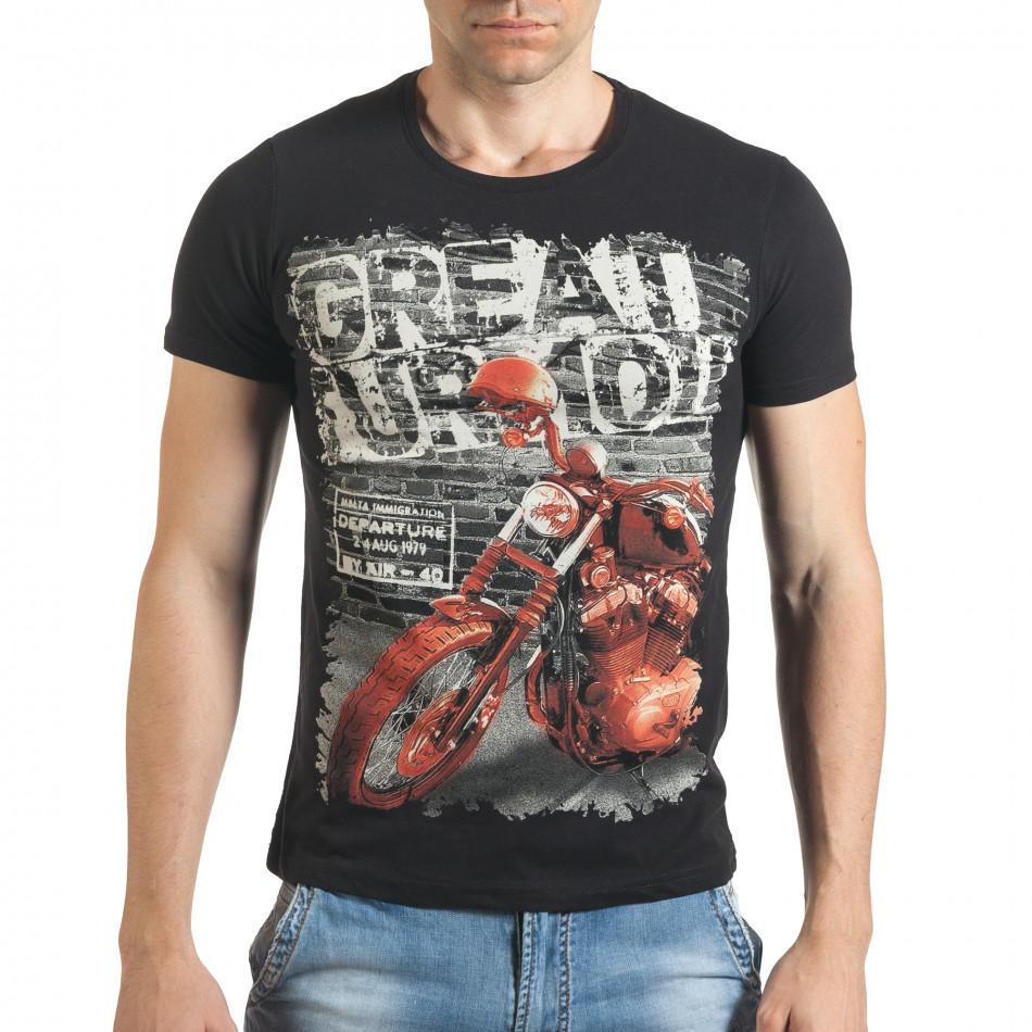 Tricou bărbați Just Relax negru il140416-50