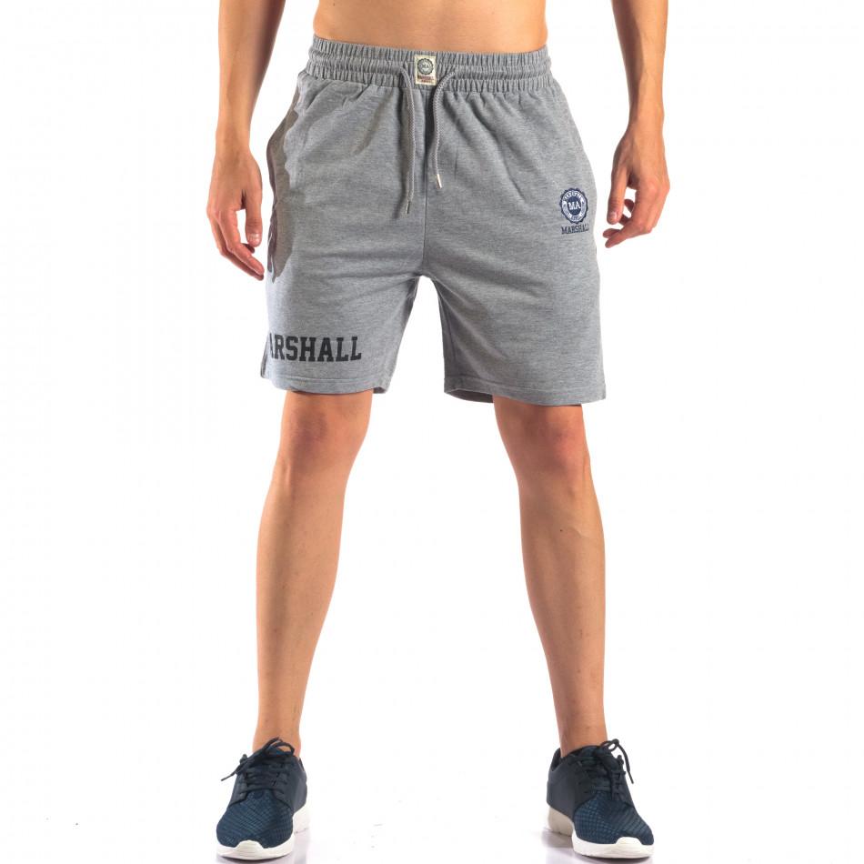 Pantaloni scurți bărbați Marshall gri it160616-4