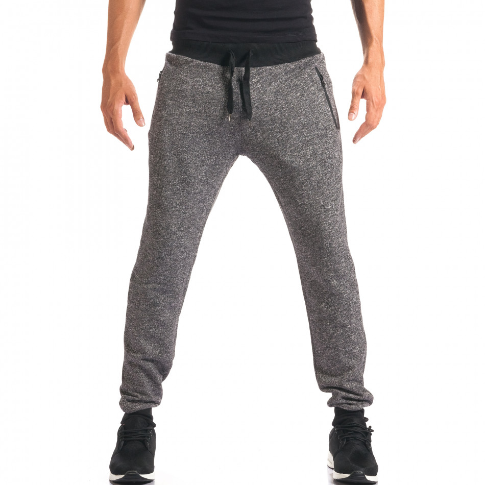 Pantaloni bărbați New Mentality gri it160816-27