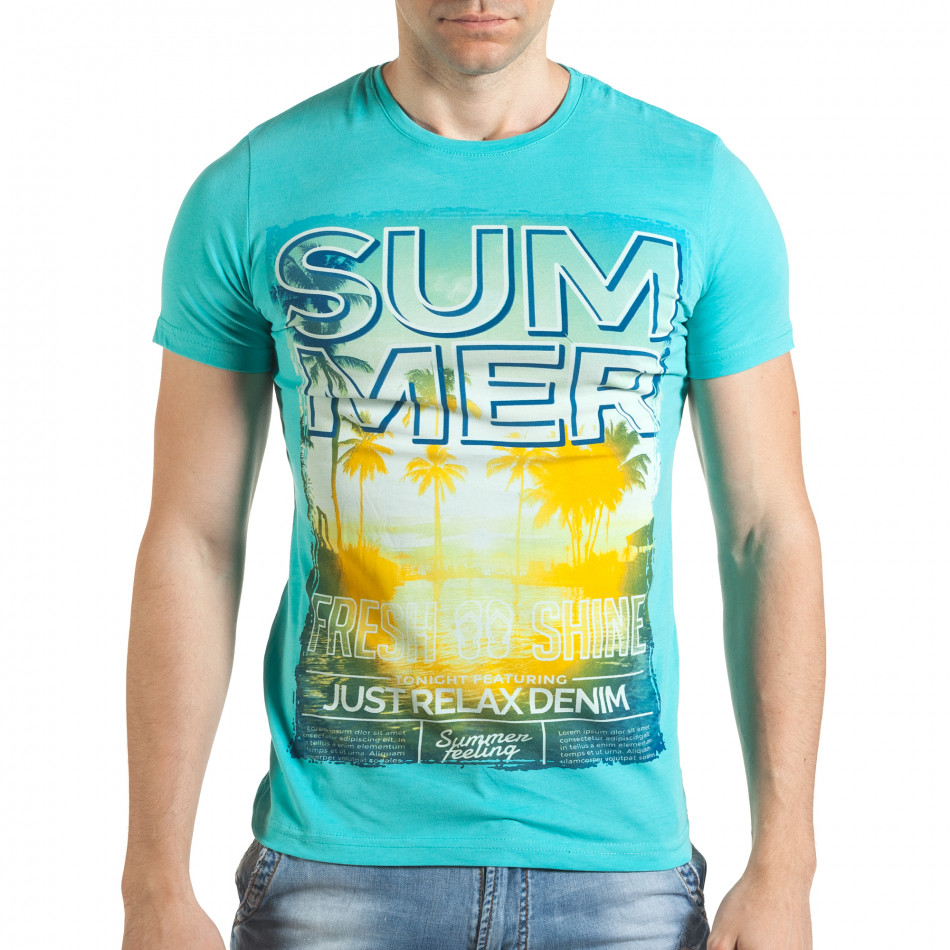 Tricou bărbați Just Relax albastru il140416-48