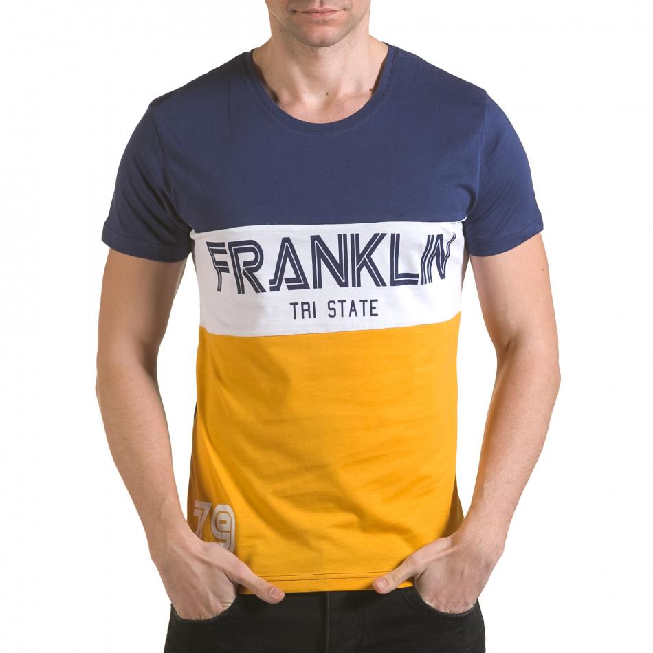 Tricou bărbați Franklin albastru il170216-12