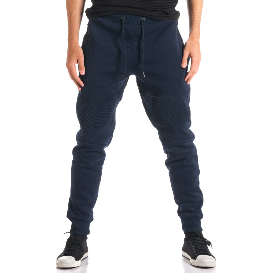 Pantaloni baggy bărbați Top Star albaștri ca280916-12