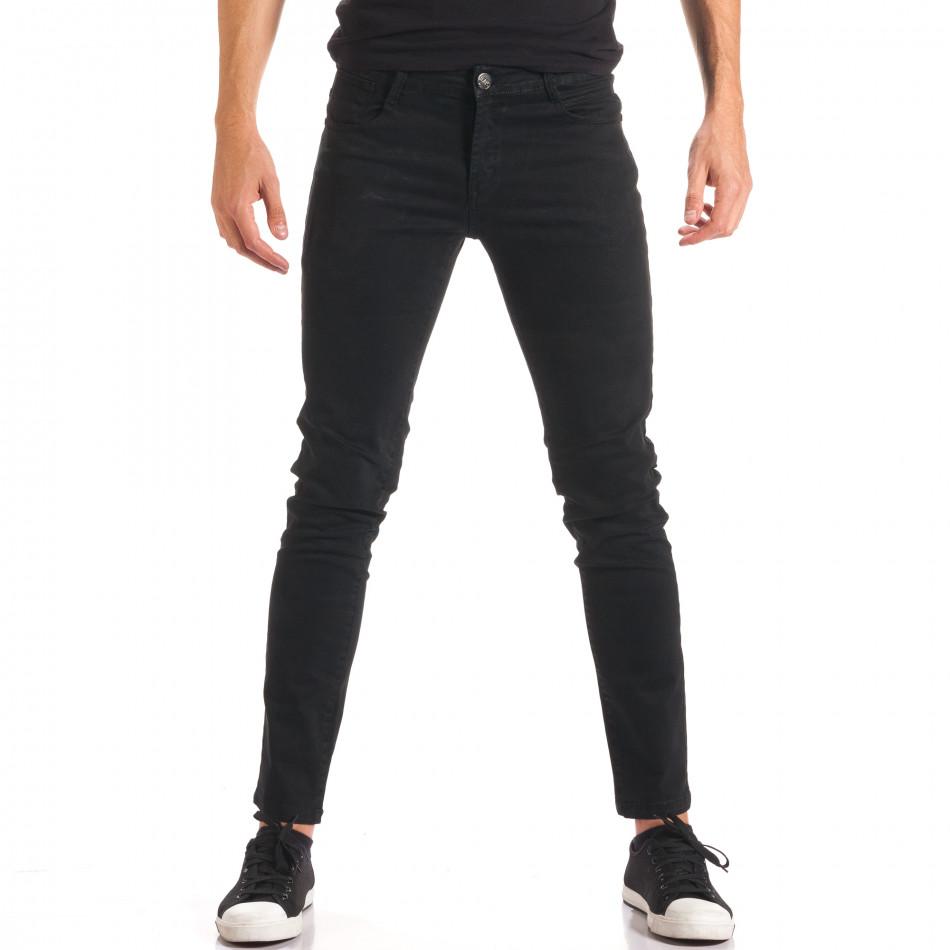 Pantaloni bărbați G-9 negri it150816-3