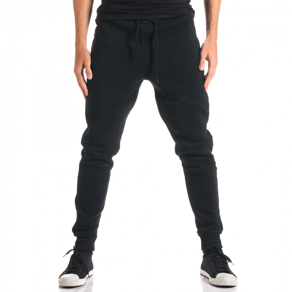 Pantaloni baggy bărbați Top Star negri ca280916-11