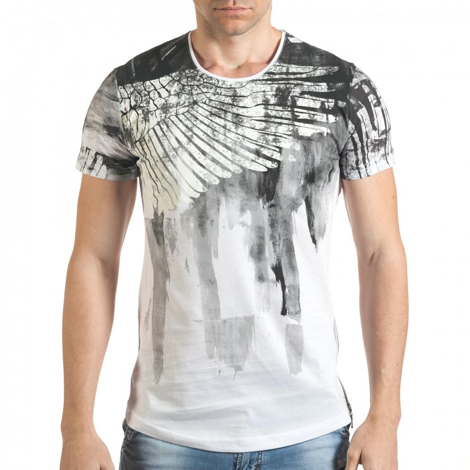 Tricou bărbați Eksi alb tsf140416-4