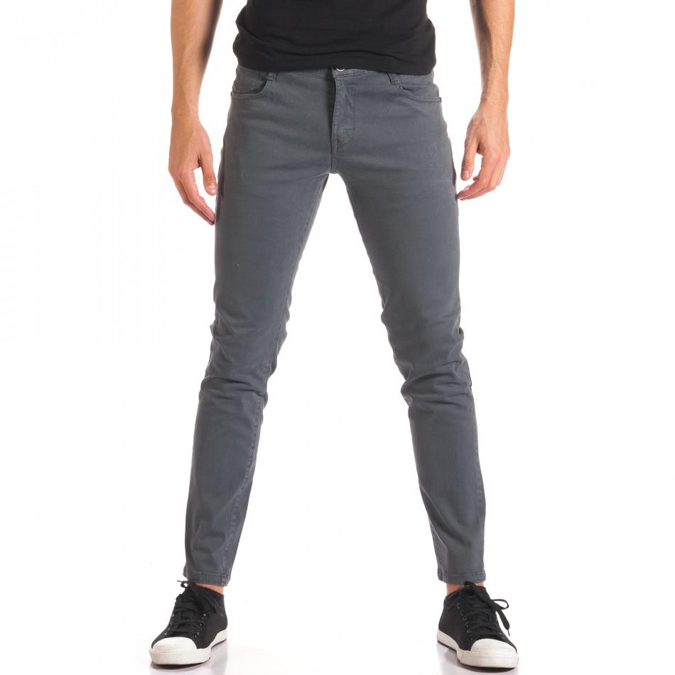 Pantaloni bărbați G-9 gri it150816-1