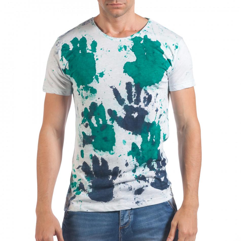 Tricou bărbați Lagos alb il060616-50