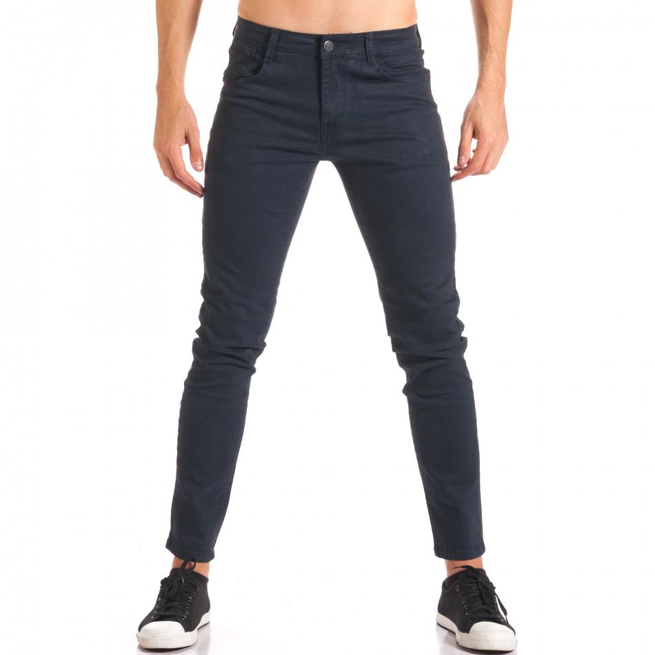 Pantaloni bărbați G-9 albaștri it150816-2