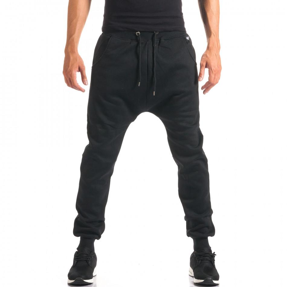 Pantaloni baggy bărbați Marshall negri it160816-20