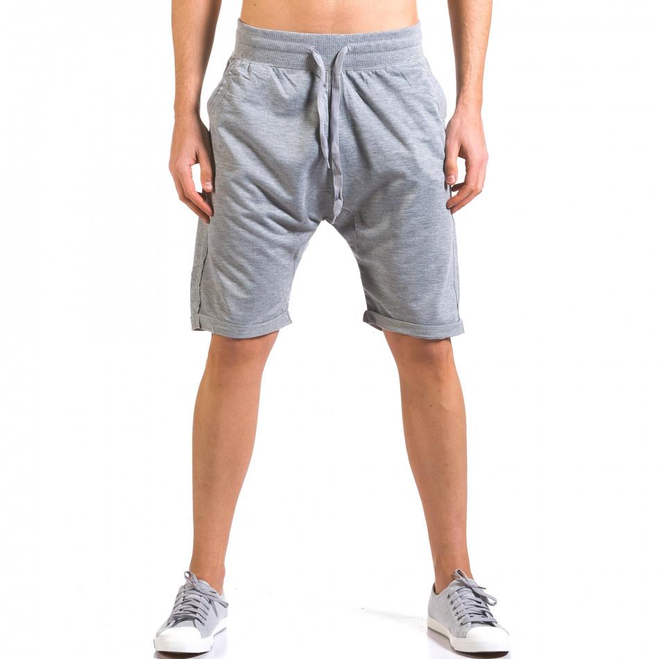 Pantaloni scurți bărbați Dress&GO gri it160316-25