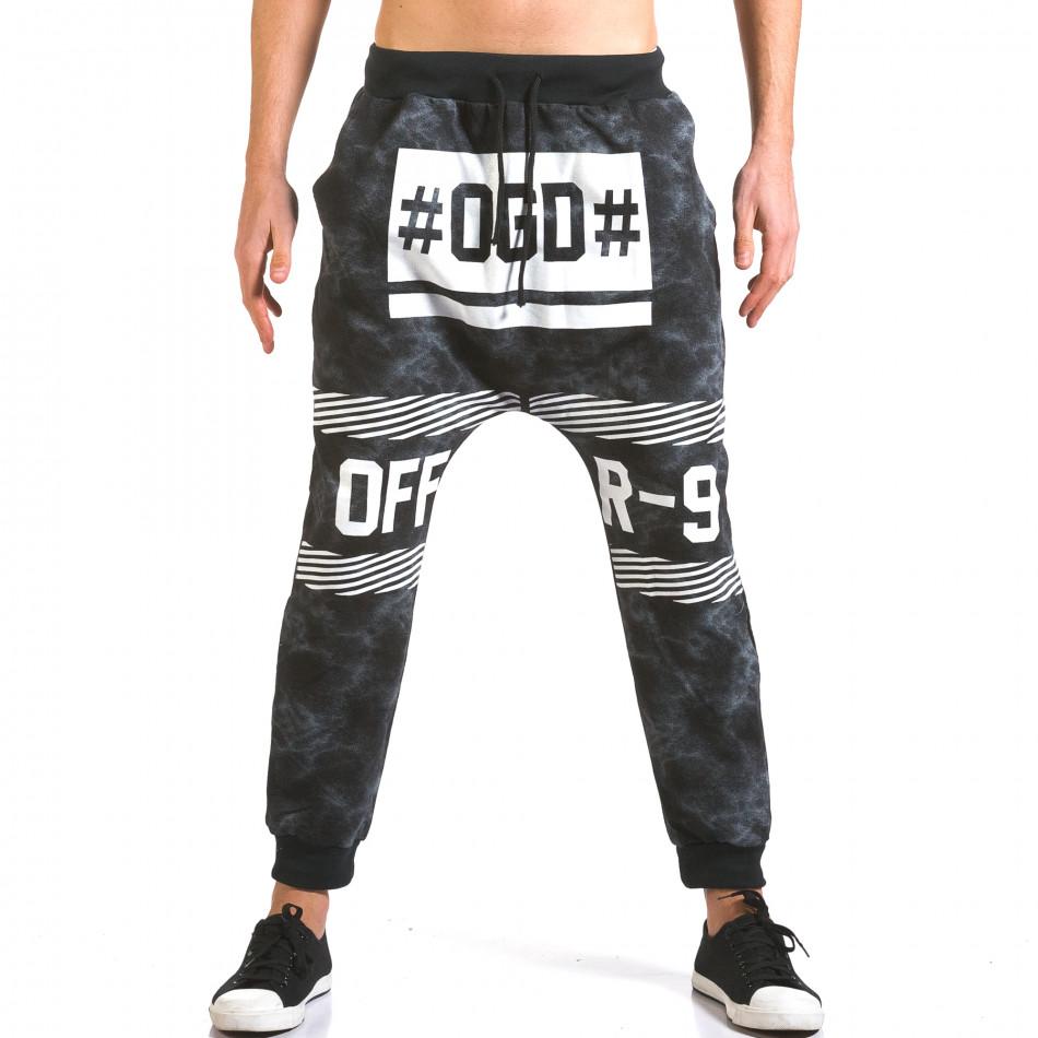 Pantaloni baggy bărbați Vestiti Delle Nuvole negri it160316-8