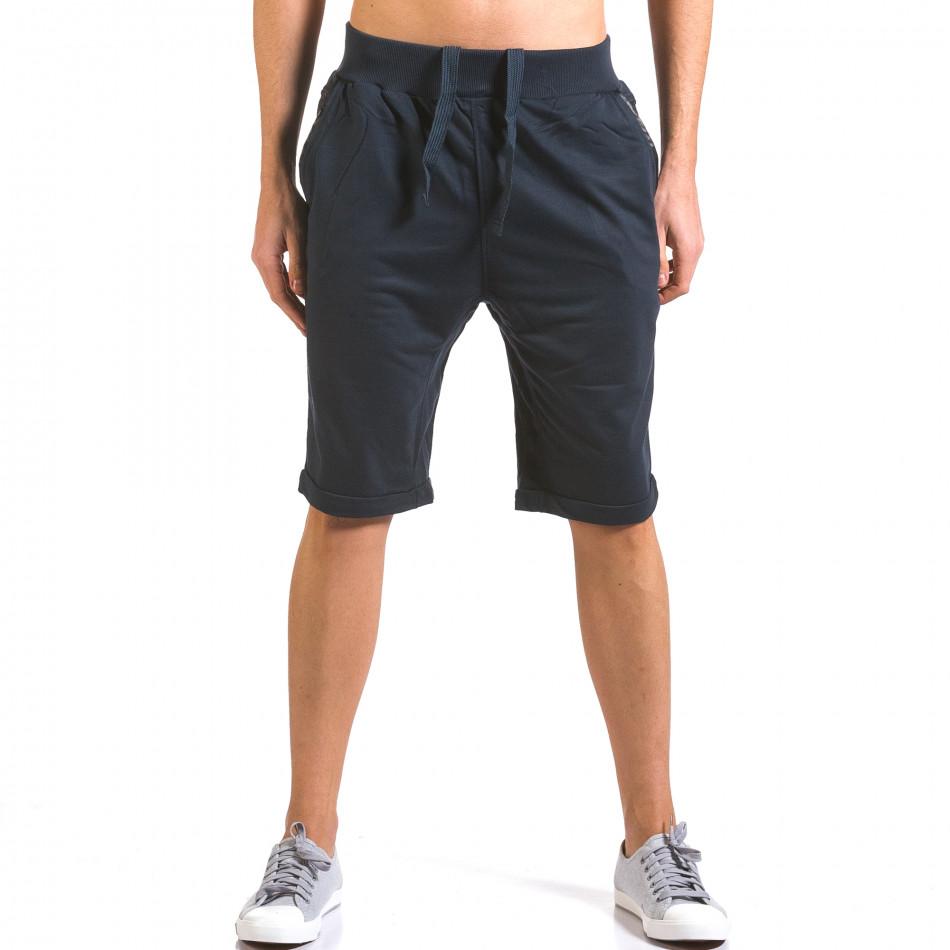 Pantaloni scurți bărbați Dress&GO albaștri it160316-20