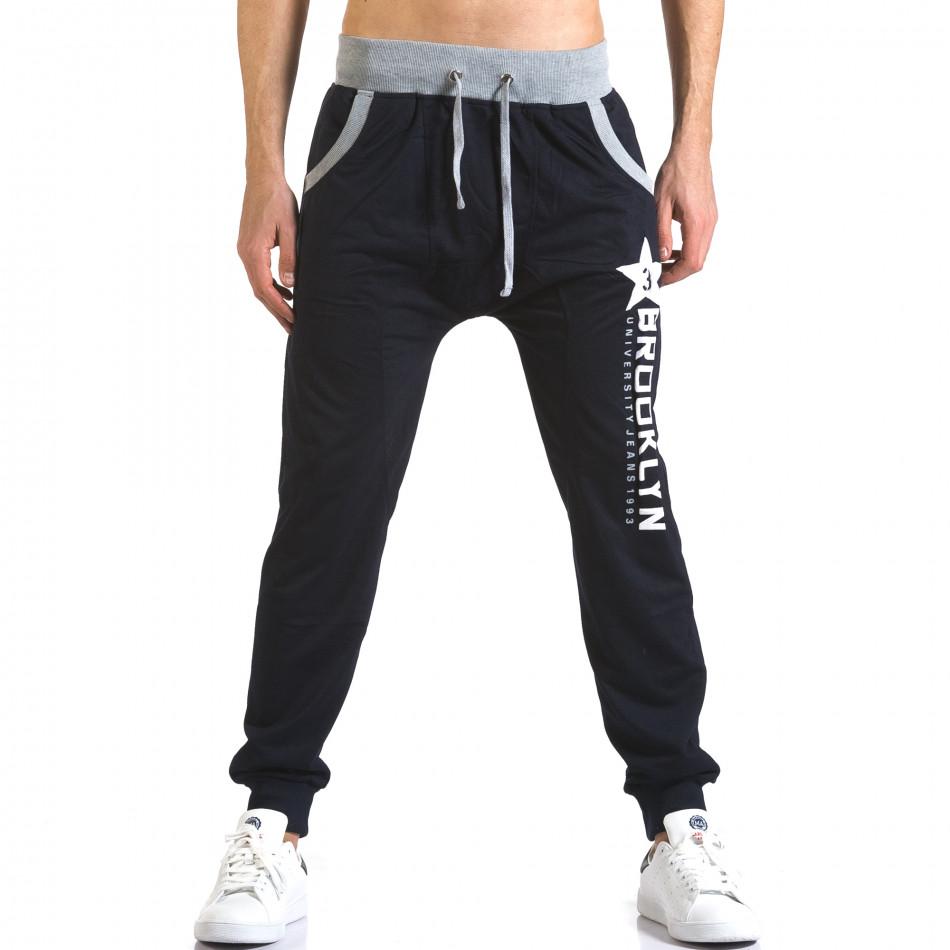 Pantaloni baggy bărbați Realman albaștri it110316-9
