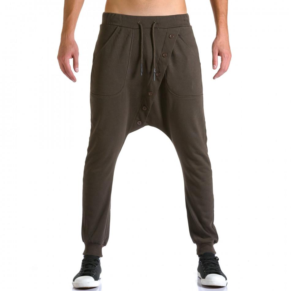 Pantaloni baggy bărbați Devil Slayer maro ca260815-25