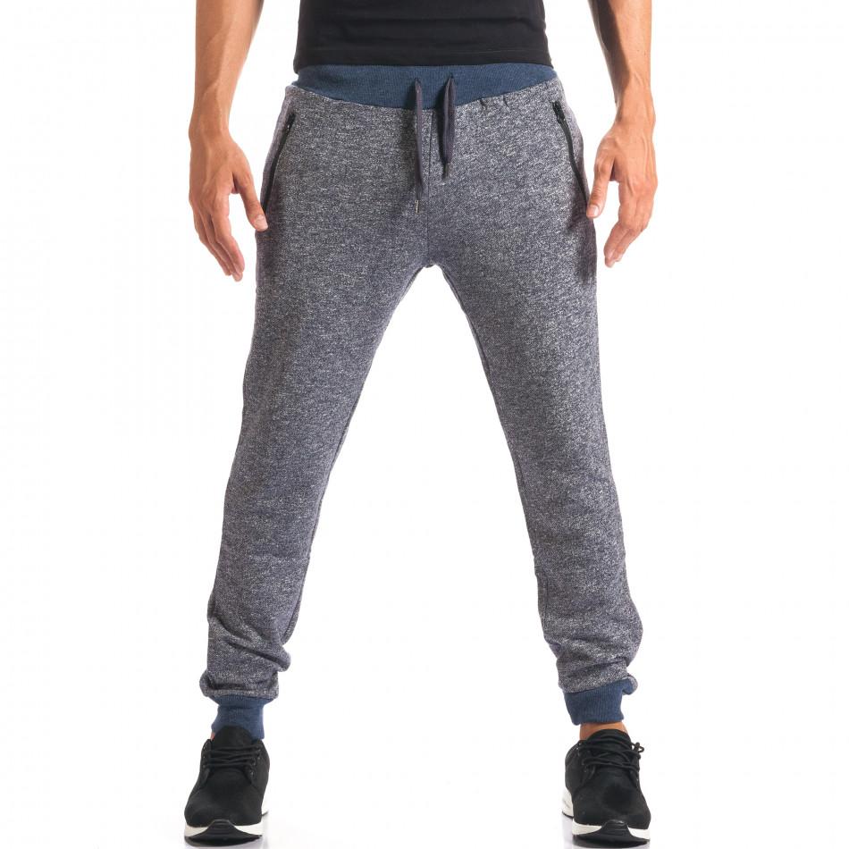 Pantaloni sport bărbați New Mentality albastru it160816-25