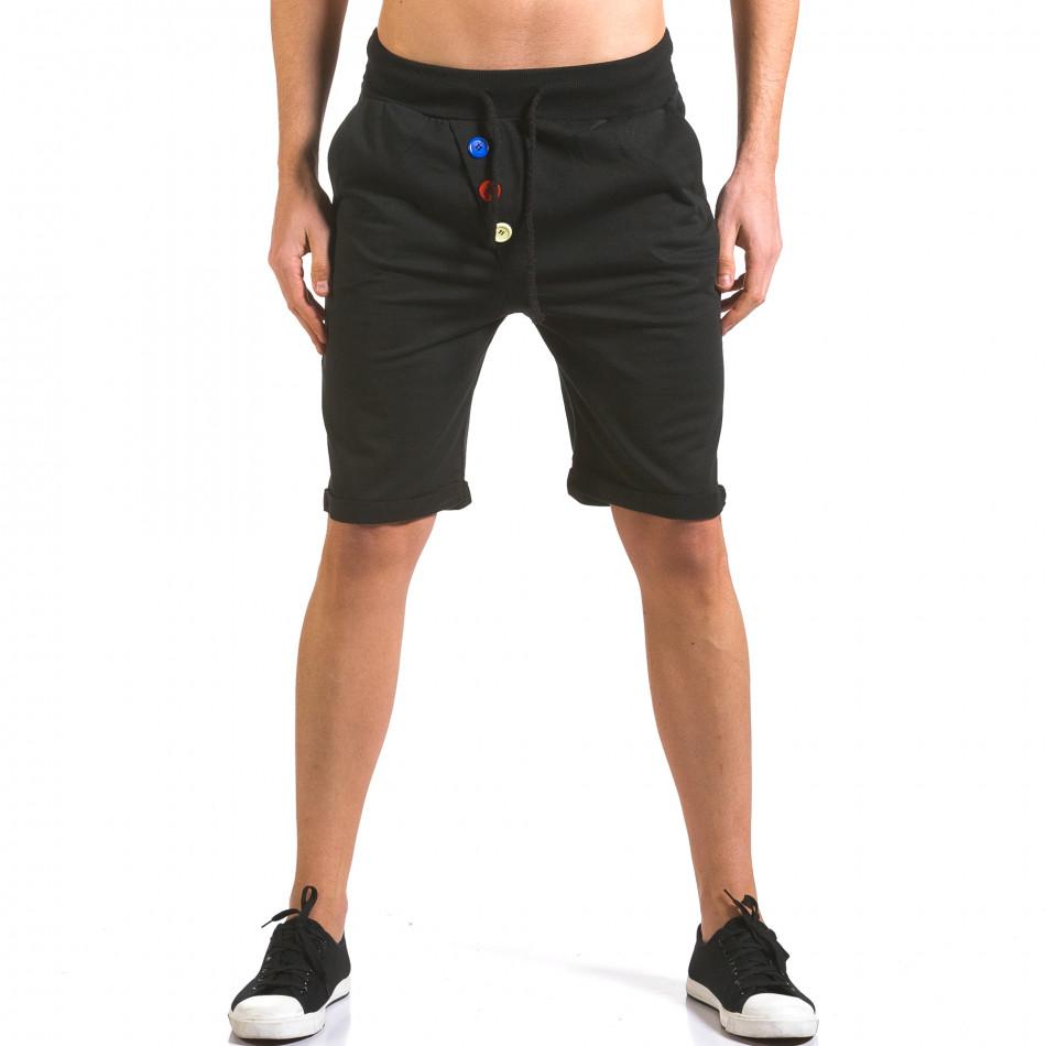 Pantaloni scurți bărbați Vestiti Delle Nuvole negri it160316-27