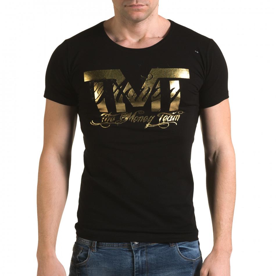 Tricou bărbați Glamsky negru il120216-61