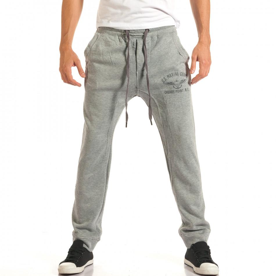 Pantaloni baggy bărbați Bread & Buttons gri it191016-11