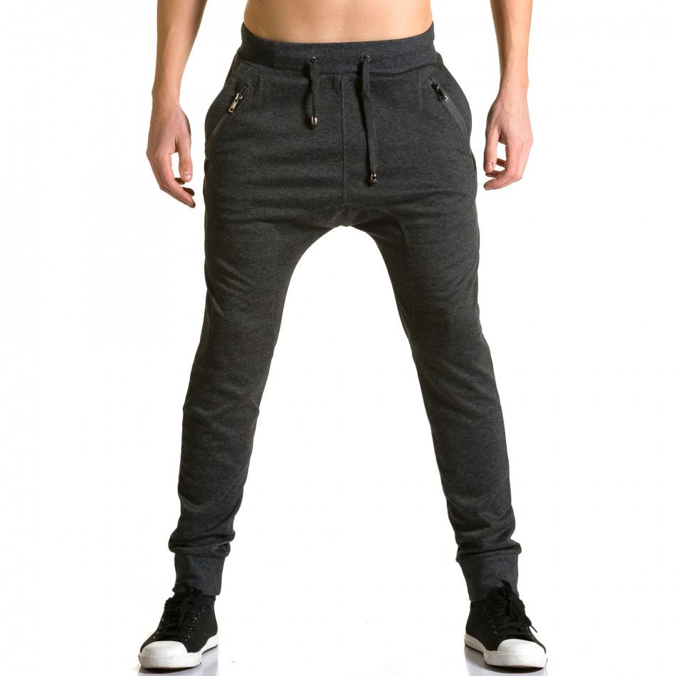 Pantaloni baggy bărbați Furia Rossa negri ca190116-19