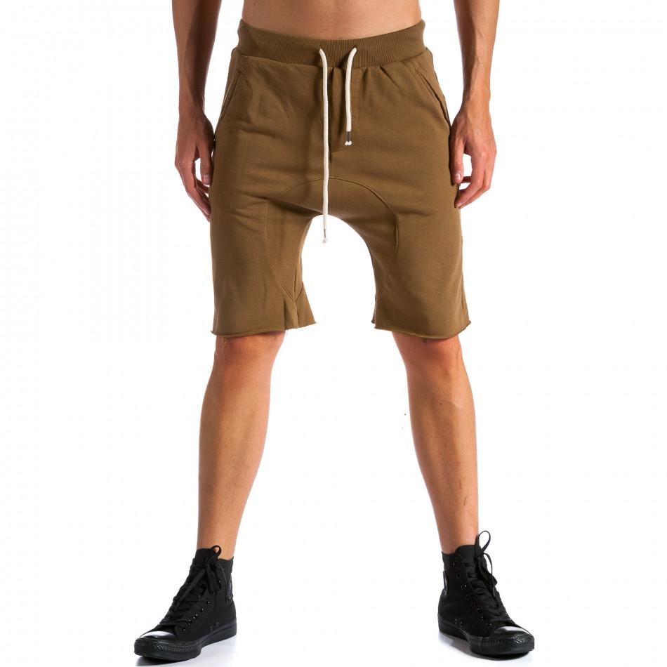 Pantaloni scurți bărbați Bread & Buttons maro tsf120514-17