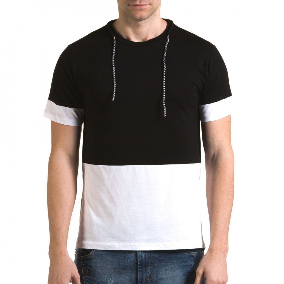 Tricou bărbați Man negru it090216-69