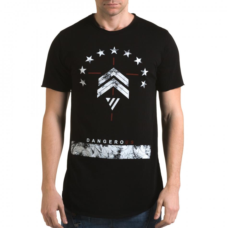 Tricou bărbați Man negru it090216-71
