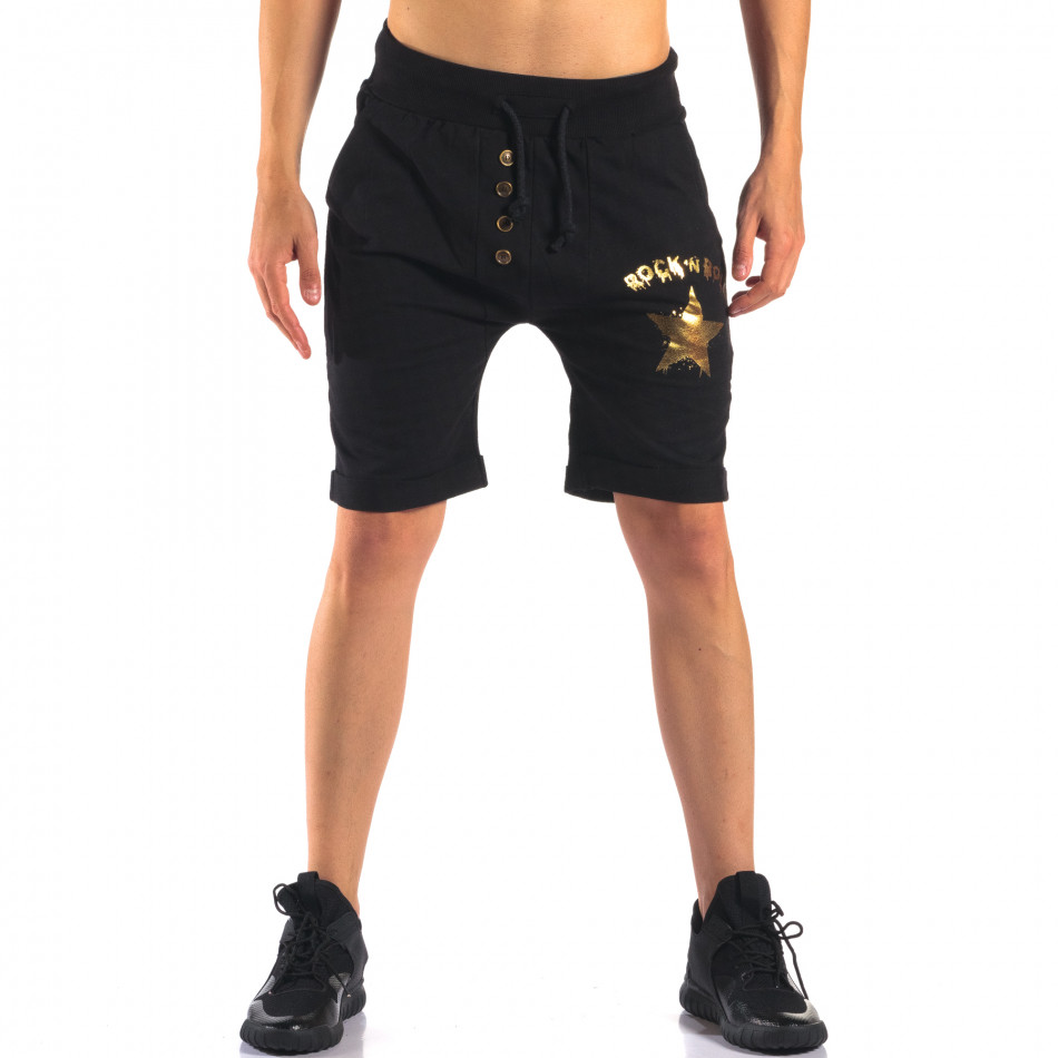 Pantaloni scurți bărbați Black Fox negri it160616-12
