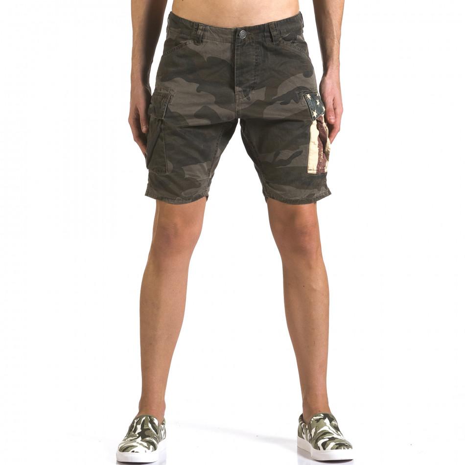 Pantaloni scurți bărbați Bread & Buttons camuflaj it110316-55