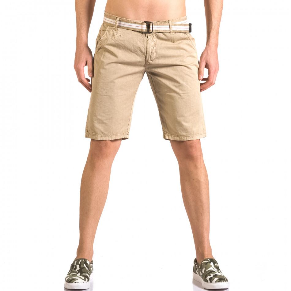 Pantaloni scurți bărbați Top Star bej ca050416-66