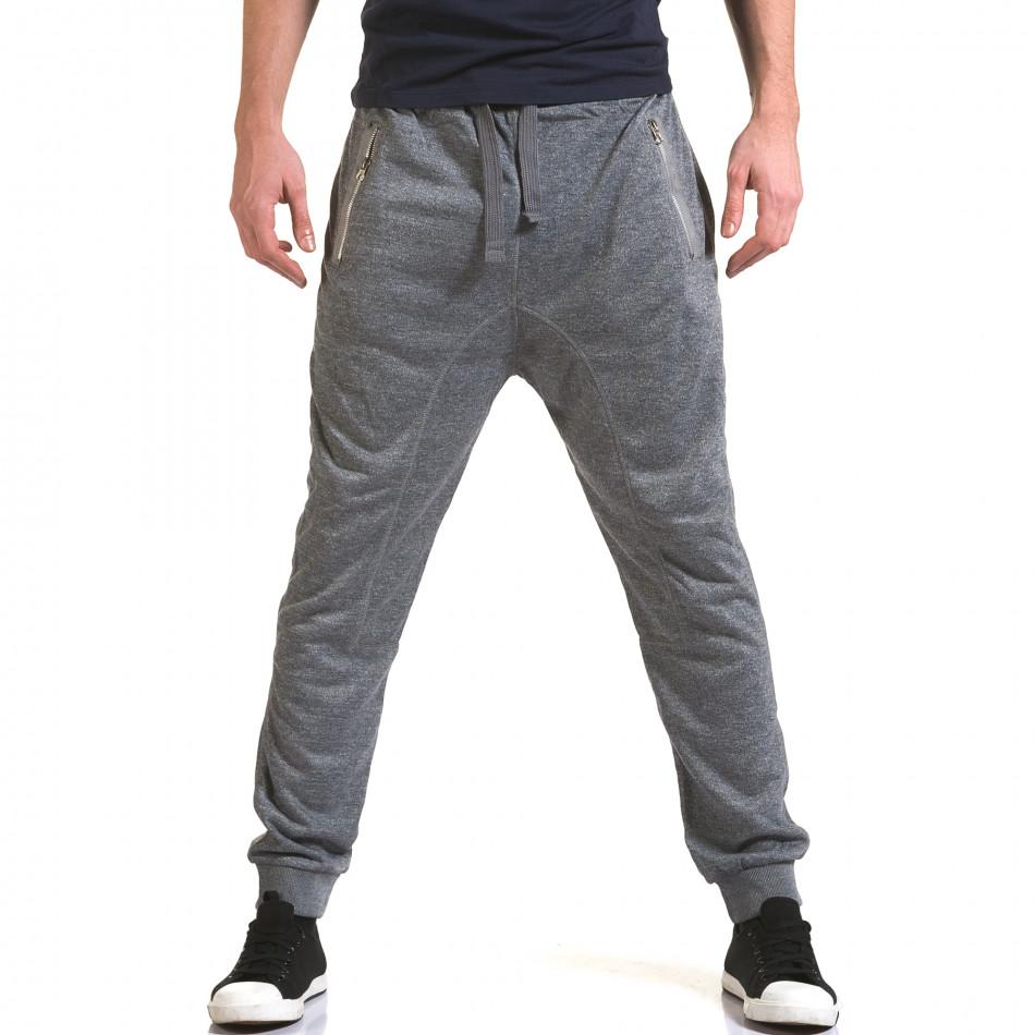 Pantaloni baggy bărbați Dress&GO gri it090216-37