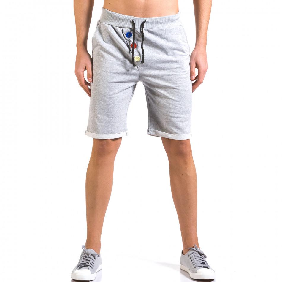 Pantaloni scurți bărbați Vestiti Delle Nuvole gri it160316-26