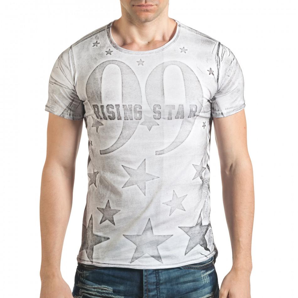 Tricou bărbați Millionaire alb il140416-15