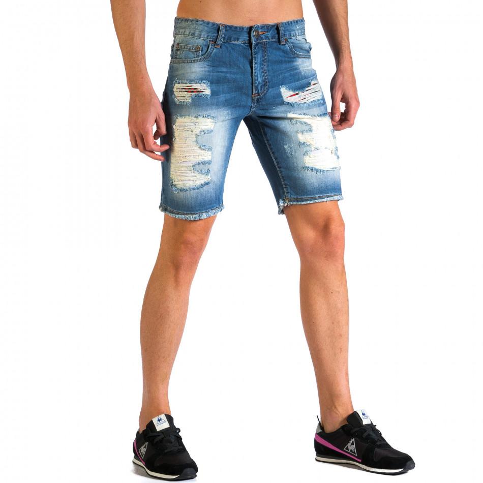 Blugi scurți bărbați Always Jeans albaștri ca030414-2