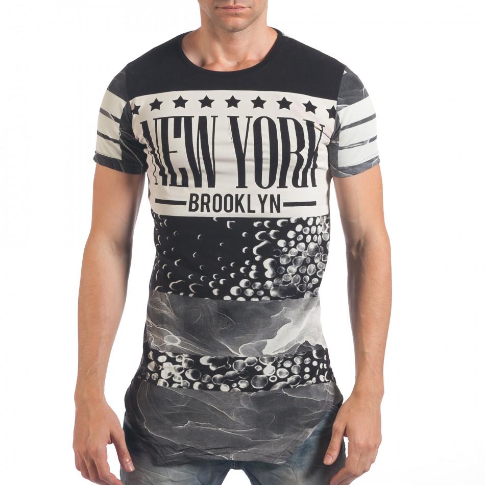 Tricou bărbați Just Relax negru il060616-2