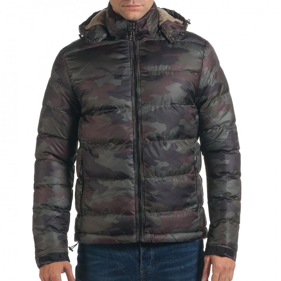 Geacă de iarnă bărbați Adrexx camuflaj it191016-105