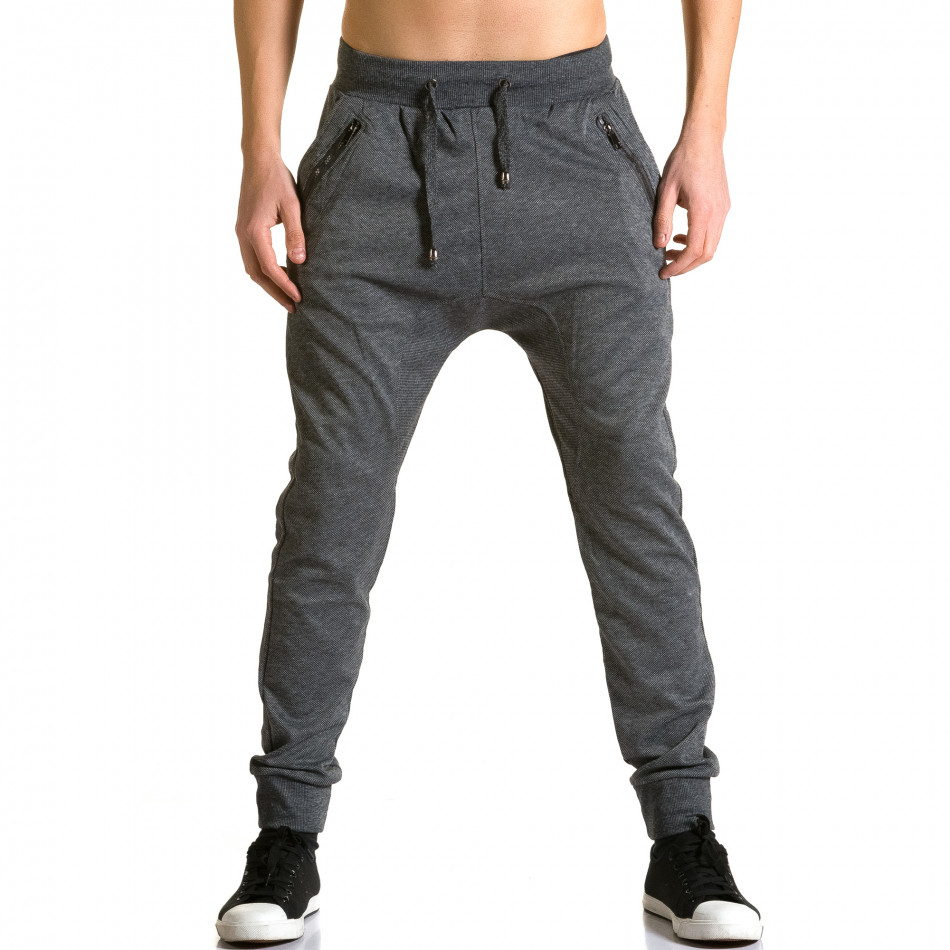 Pantaloni baggy bărbați Furia Rossa gri ca190116-18
