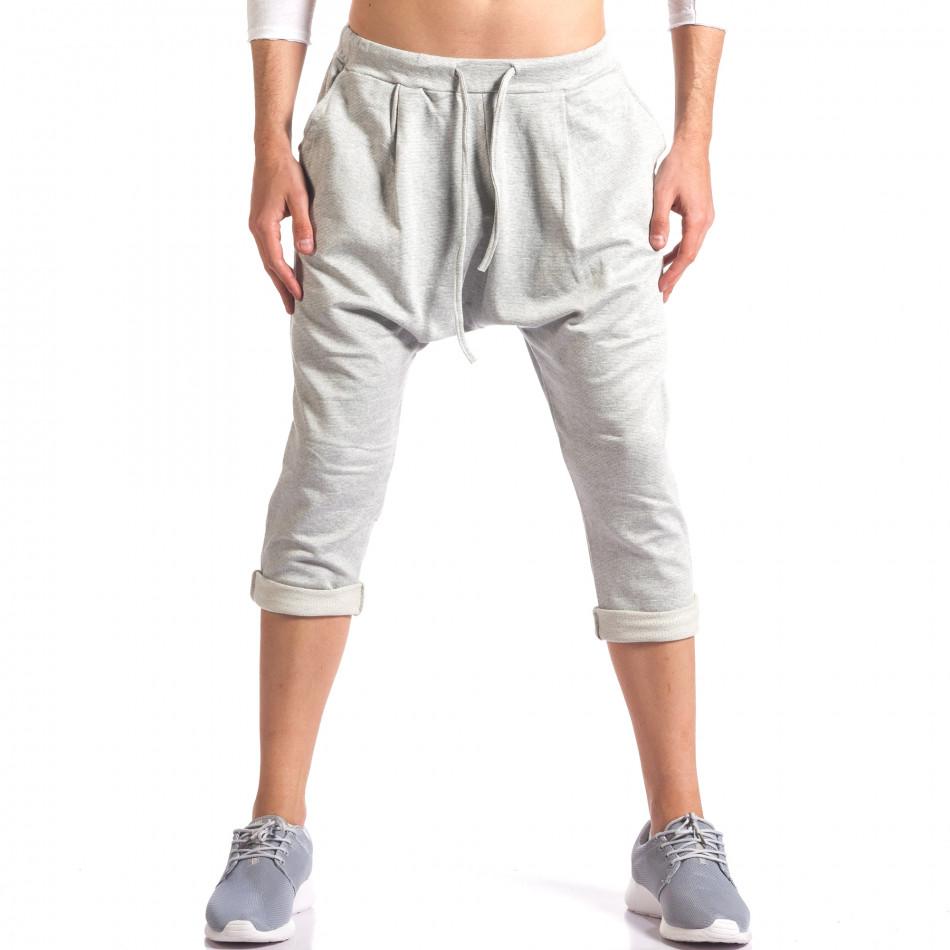 Pantaloni baggy bărbați FCSM gri it260416-38