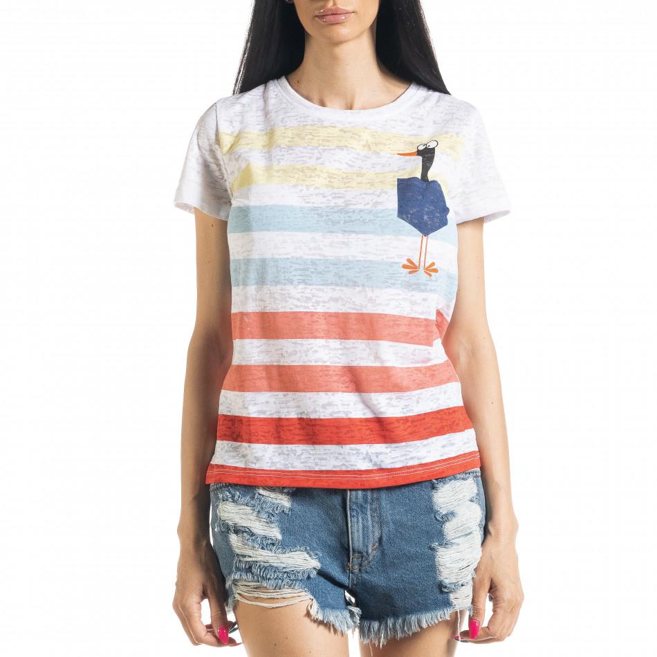 Tricou de dama cu dungi il080620-10
