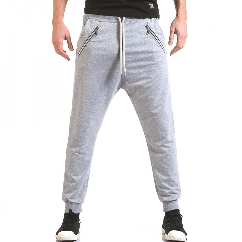 Pantaloni baggy bărbați Franklin gri il170216-140