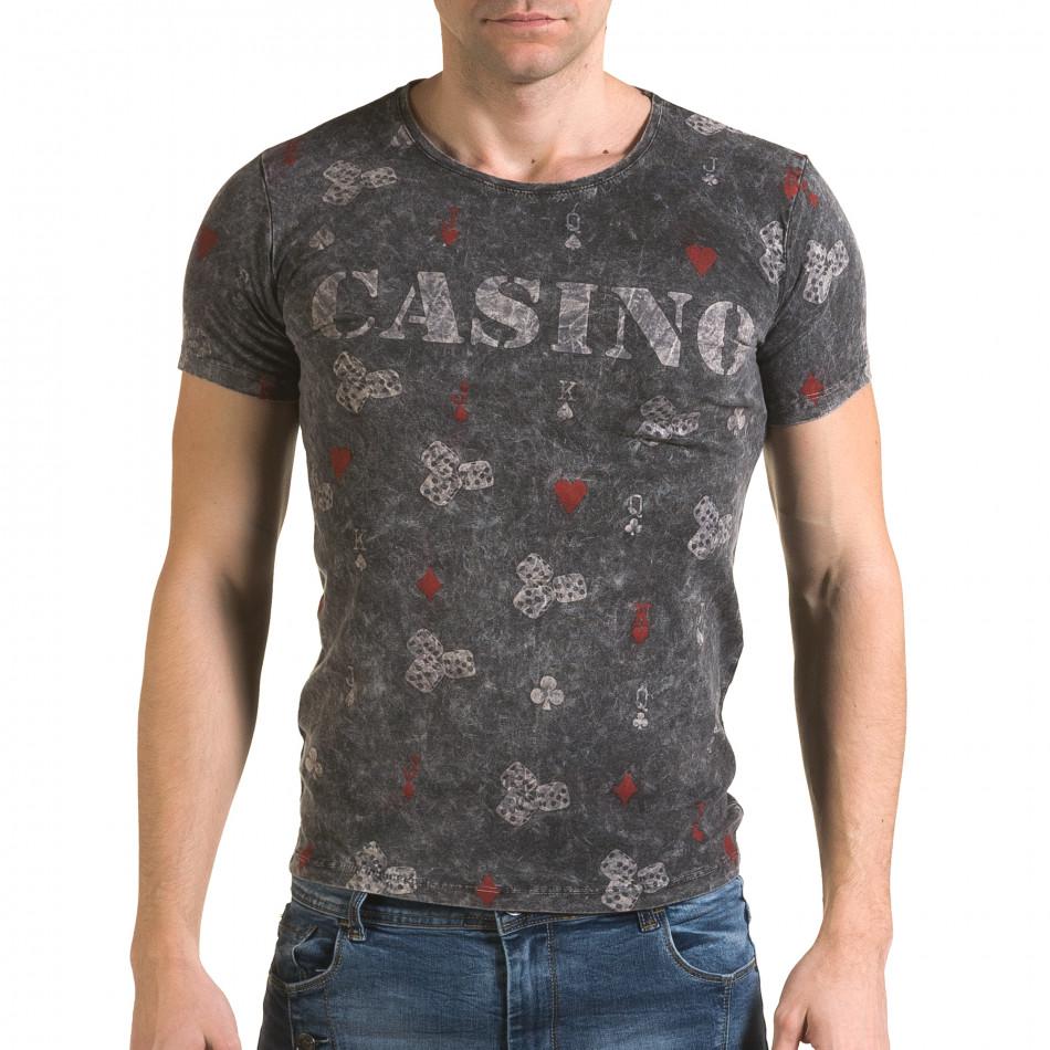 Tricou bărbați Lagos gri il120216-31