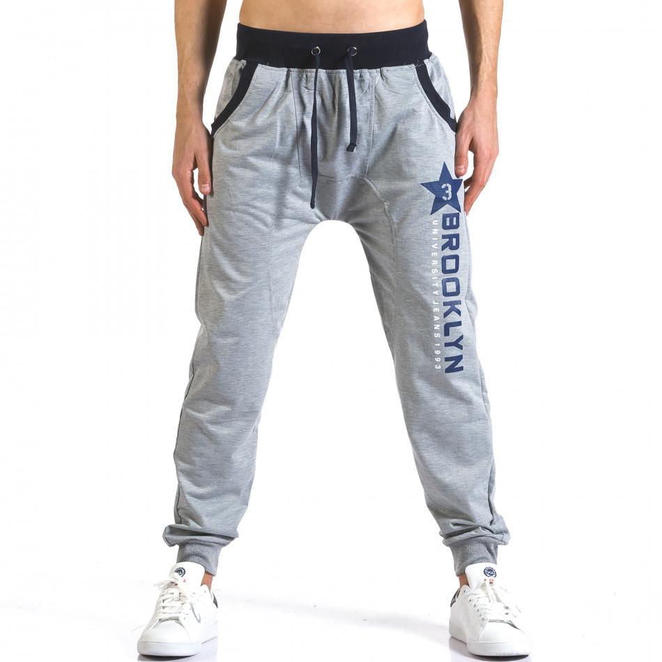 Pantaloni baggy bărbați Realman gri it110316-8