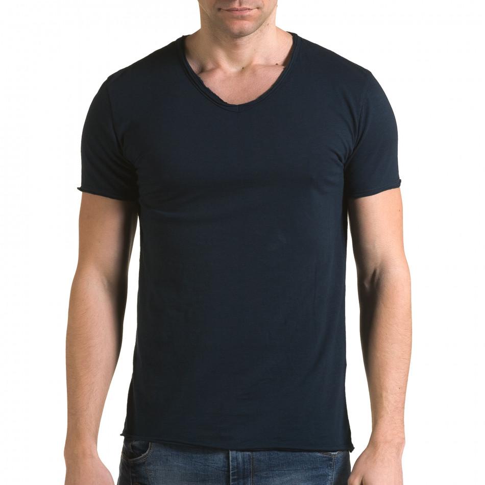 Tricou bărbați FM albastru it090216-75