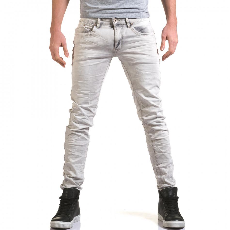 Pantaloni bărbați Leeyo Jeans gri it090216-22