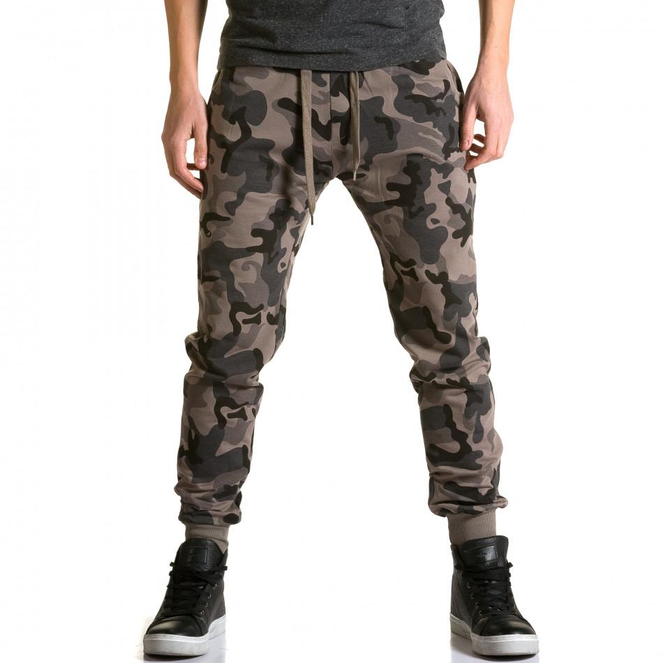 Pantaloni baggy bărbați Belmode camuflaj ca190116-30