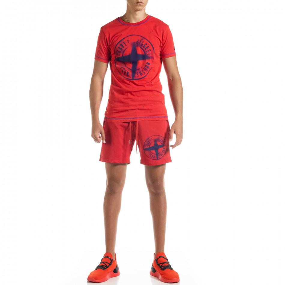 Set sportiv roșu pentru bărbați Compass tr010720-4