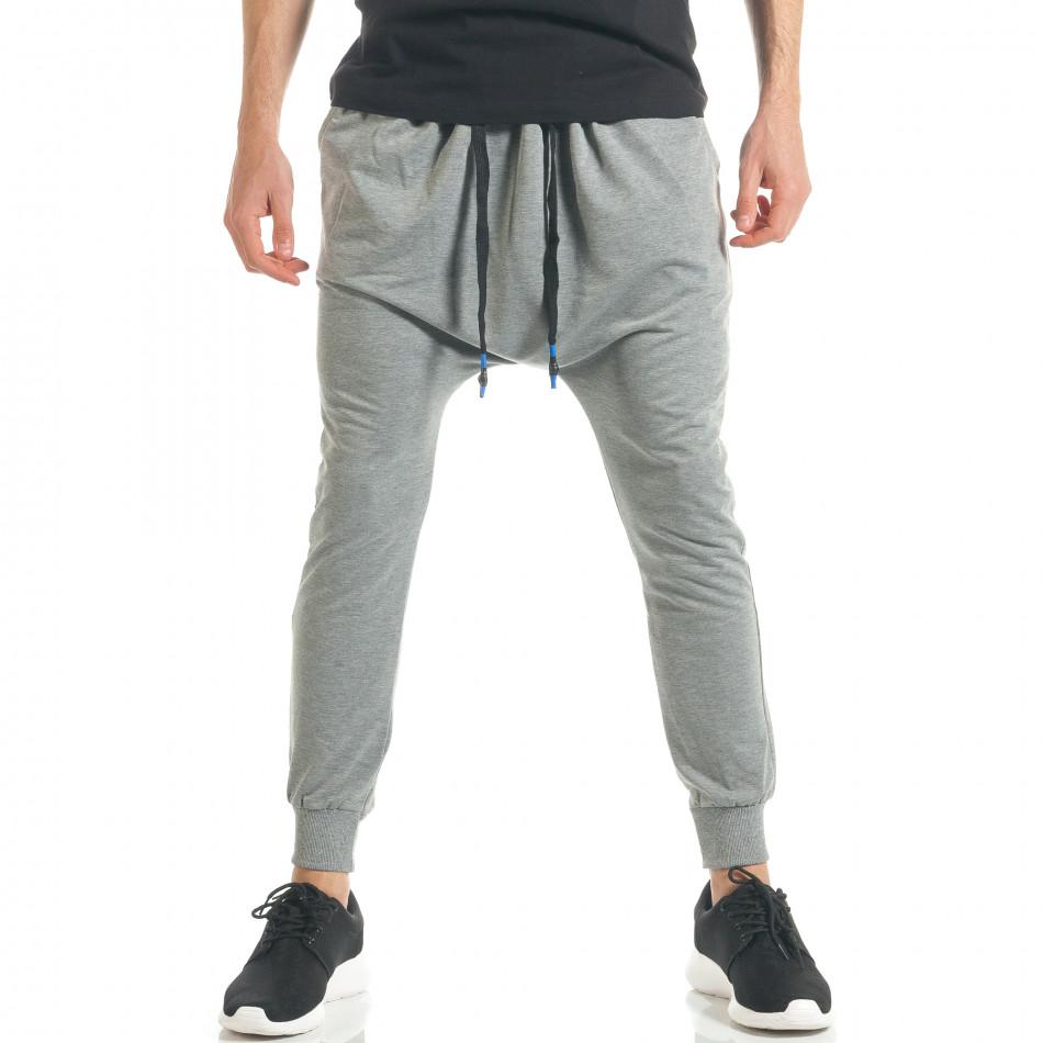 Pantaloni baggy bărbați Black Fox gri it300317-24