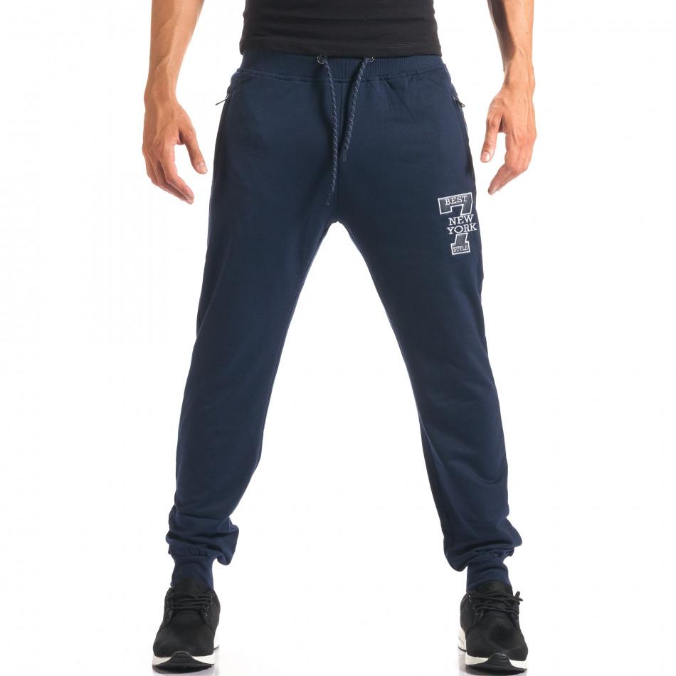 Pantaloni bărbați Top Star albastru it160816-31